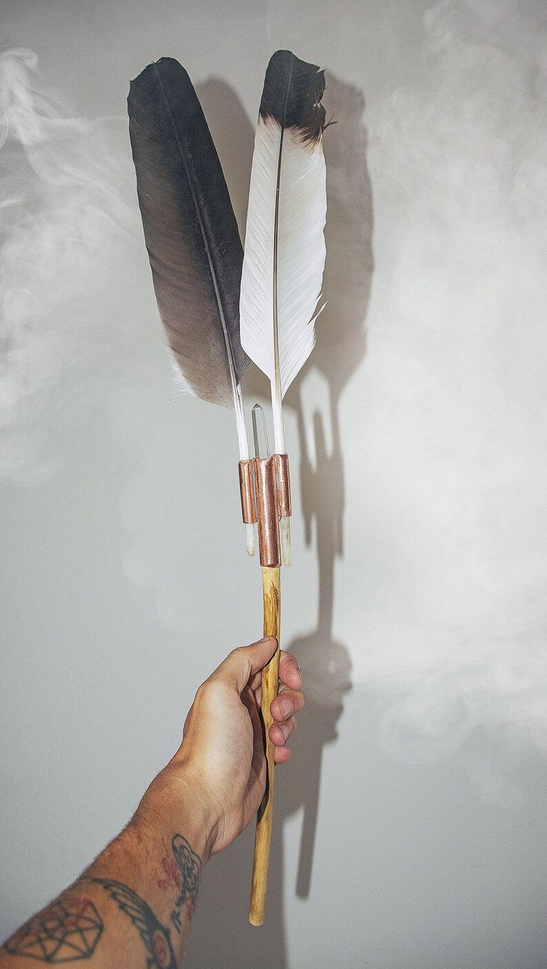 Feather  Prayer Feather  Blessing feather  Smudge feather image 0