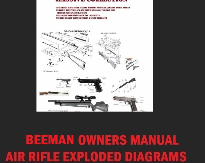 BEEMAN air rifle airgun owners user manual collection instant digital download  Retrosheep#Airgun #Gun