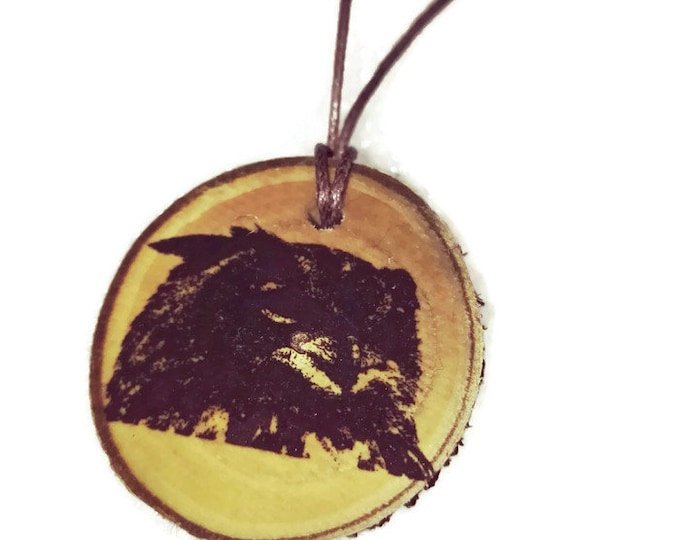 Eurasian Eagle Owl Bird Of Prey Necklace Charm Wooden Handmade Personalised Engraved Eco Friendly Engraved Gift jewellery #GiftForHer#Etsy
