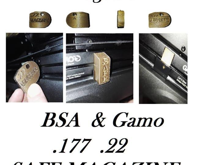 MAGSAFE 3D Printed Gold Airgun Saftey Magazine fits BSA GAMO Phox Air Rifle Accessory  .177 .22  #AirRifle #AirGun  #Airgun #Gun