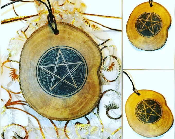Celtic Pentacle Pentagram Personalised Bespoke Necklace Pendant Charm Earrings keyring or Scented Charms