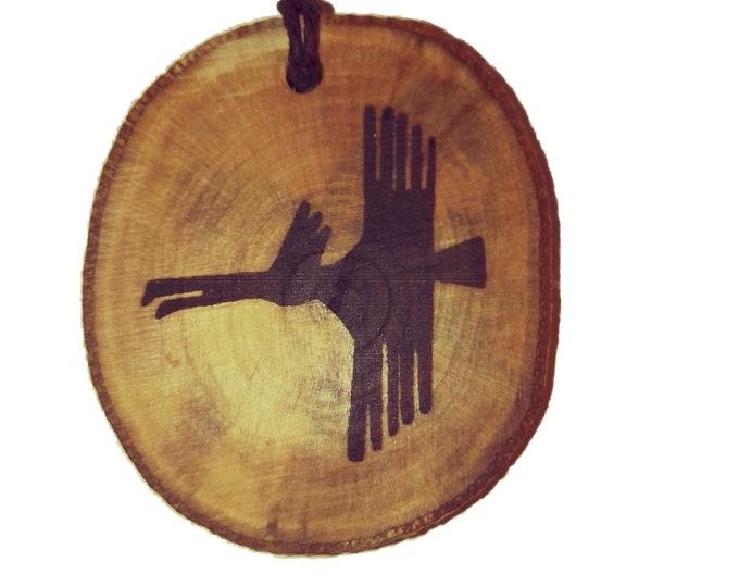 Bespoke Nazca Lines Peru Geoglyph  Bird  Handmade Wooden Engraved Necklace Pendant Charm  #Nazca #Geoglyph