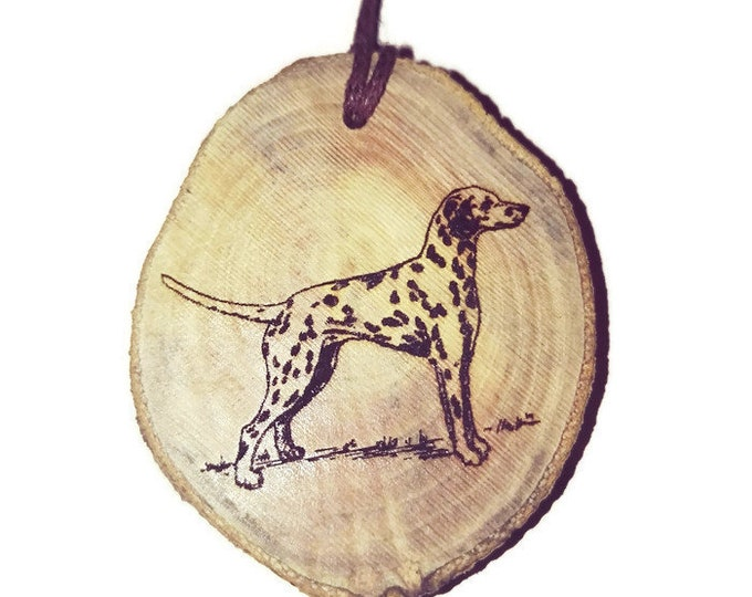 Bespoke Dalmatian Dog Necklace Charm Wooden Handmade Personalised Engraved Eco Friendly Engraved Gift jewellery #GiftForHer  #Etsy #Charm