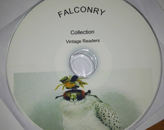 Retrosheep FALCONRY HAWKING COLLECTION hunting books leather working patterns templates hoods jesses guide diy plans + books #hunting  #Etsy