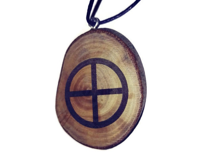Planet Earth Celestial Symbol Necklace Wooden Charm Brown  Eco Friendly Handmade Personalised Charms Wood Hand made Jewellery #Earth #Etsy