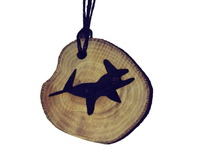 Bespoke Nazca Lines Peru Geoglyph Whale Handmade Wooden Engraved Necklace Pendant Charm  #Nazca #Geoglyph