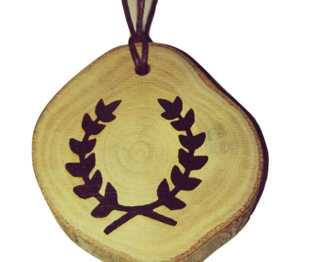 Hellenism Symbol  neo Pagan Celtic Wiccan Wooden Natural Handmade Engraved Necklace Jewelry Charm Can Be Personalised #Celtic #Jewelry#Etsy