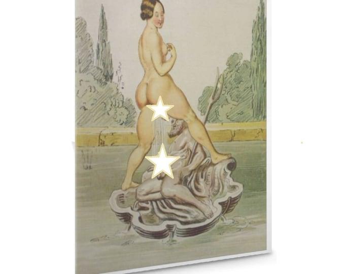 Peter Fendi  Vintage Erotic Kinky X Rated Art Valentines Card Funny  Printable Valentine Card For Boyfriend Girlfriend Husband#Etsy