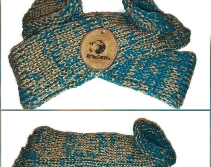 After Eight Mint Gold Green Mix Handmade Hand Knitted Wool Unisex Socks #Socks