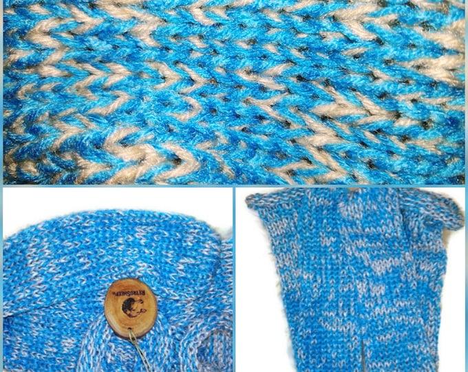 Retrosheep TURQUOISE OAT Mix Funky Handmade Wool Unisex bed / sofa Retro Socks For Women Men #Socks
