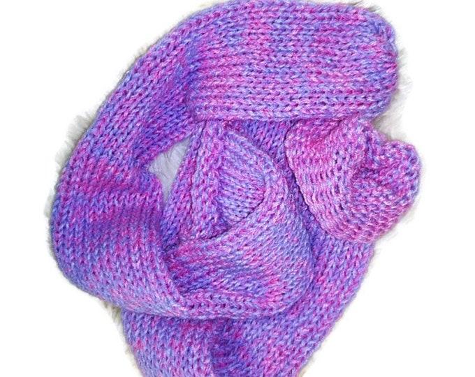 Pink Lilac Funky Handmade Wool Unisex bed / sofa Retro Socks For Women Men #Socks