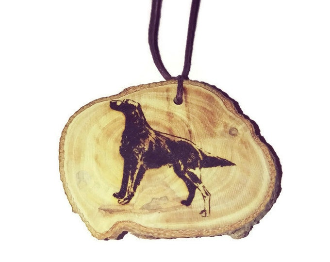 Irish Red Setter Dog Necklace Charm Wooden Handmade Personalised Engraved Eco Friendly Engraved Gift jewellery #GiftForHer  #Etsy #Charm