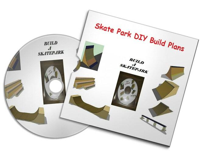 Retrosheep SKATE RAMP PARK Skateboard Ramps Build Plans Skate Bmx Scooter Ramp quarter pipe#Etsy