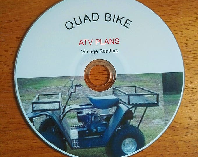 Quad bike ATV off road buggy / chopper / trailer / tear drop caravan / BUILD your own vehicle plans guides DIY