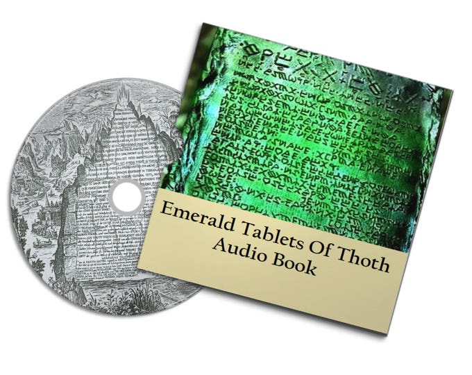 The Emerald Tablets Of Thoth The Atlantean Hermes Trismegistus Audio & Pdf Books#Etsy