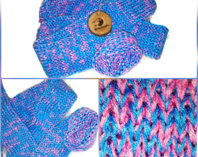 Huba Bubba Bubble Gum Pink Turquoise  Mix Funky Handmade Wool Unisex bed / sofa Retro Socks For Women Men #Socks