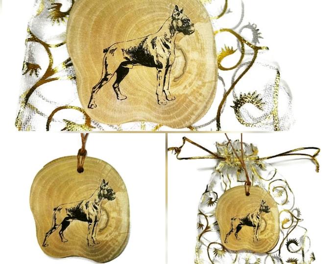 Bespoke Boxer Dog Necklace Charm Wooden Handmade Personalised Engraved Eco Friendly Engraved Gift jewellery #GiftForHer  Retrosheep#Charm