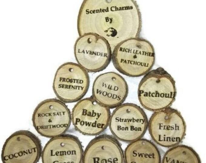 Scented wooden Plum Wood charm Car Home Air Freshener car air freshener Engraved Gift For Her  Retrosheep#Charm