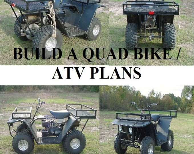 Build A Quad Bike your own off road buggy 4x4 QUAD bike ATV Digital instant DOWNLOAD #atv #quad #diy#Etsy