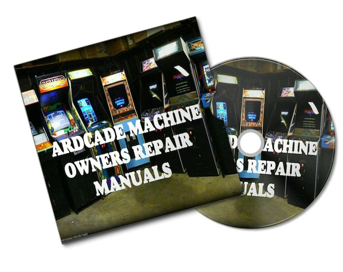 ARCADE MACHINE SERVICE and owners manuals from last 35 years of retro games cabinet bar top mame huge pack all arcade machines #Retrogamer