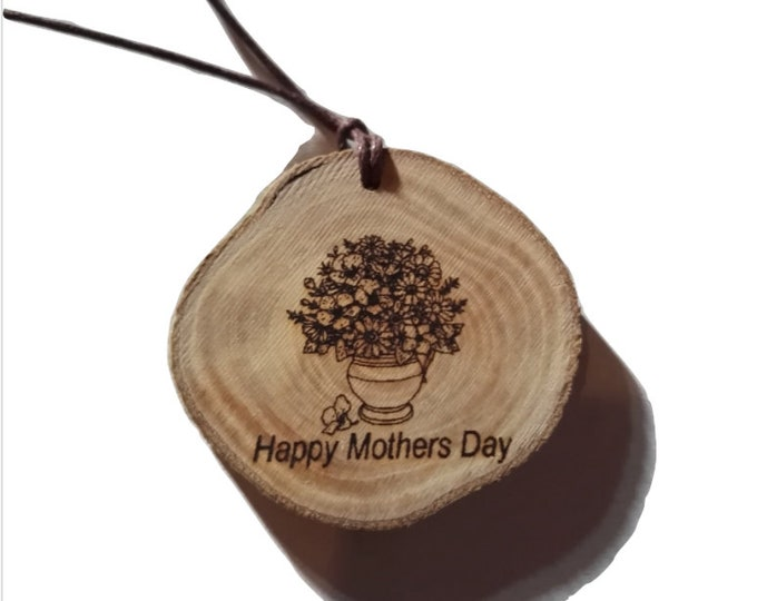 Happy Mothers Day Eco Friendly Engraved Scented Natural wooden charm Wood  Car Home Air Freshener Gift For Her  Personalised #MothersDay
