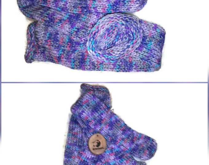 Retrosheep Hand Knit Sock LILAC PINK RAINBOW Funky Handmade Wool Unisex bed / sofa Retro Socks For Women Men #Socks