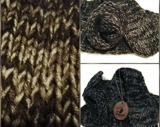 Chocolate Feast Brown Gold Beige Funky Handmade Wool Unisex bed / sofa Retro Socks For Women Men #Socks