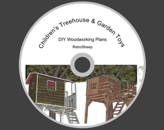 BUILD TREE HOUSE seesaw swing climbing frame wendy house garden toys new how to guide diy plans + books #treehouse  #Etsy