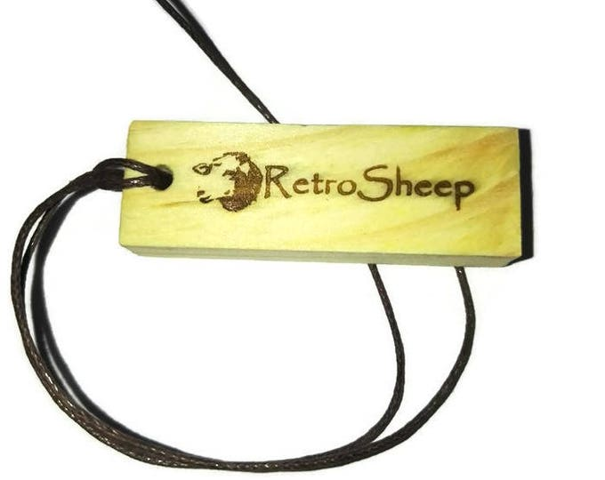 Retrosheep Engraved Scented 2D Oil Infused Scented Natural  wooden charm Wood  Car Home Air Freshener #Caraccessories