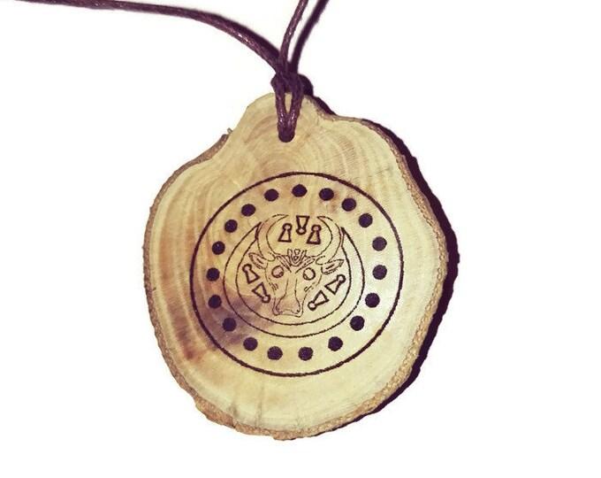 Radimichian Symbol Slavic tribe Personalised Scented Gift Wooden Engraved Charm Pagan Wicca Nordic Viking  Retrosheep#Charm