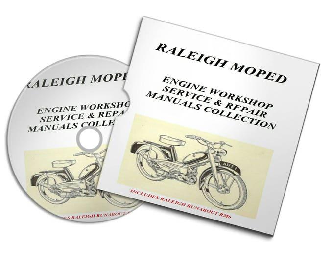 RALEIGH MOPED vintage motorbike motorcycle engine service repair workshop manuals Collection 1960' onwards#Etsy