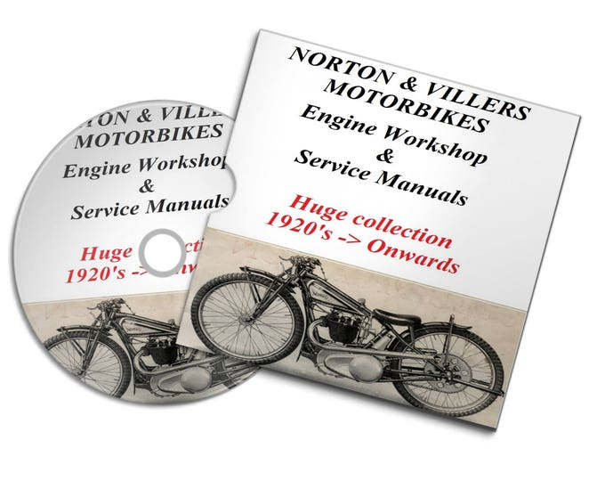 Retrosheep Norton & Villers vintage motorbike motorcycle engine service  repair workshop manuals 1920' onwards#Etsy