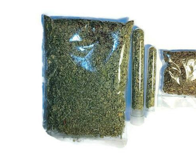 Organic Catnip Nepeta Cataria Dried Herb Bag Tube or Cat Kitten Toy Pillow Kicker Cushion  - Denim Fresh  Home grown Strong #Catmint #catnip