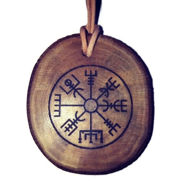 Vegvisir Nordic Compass Norse Protection Symbol Personalised Scented