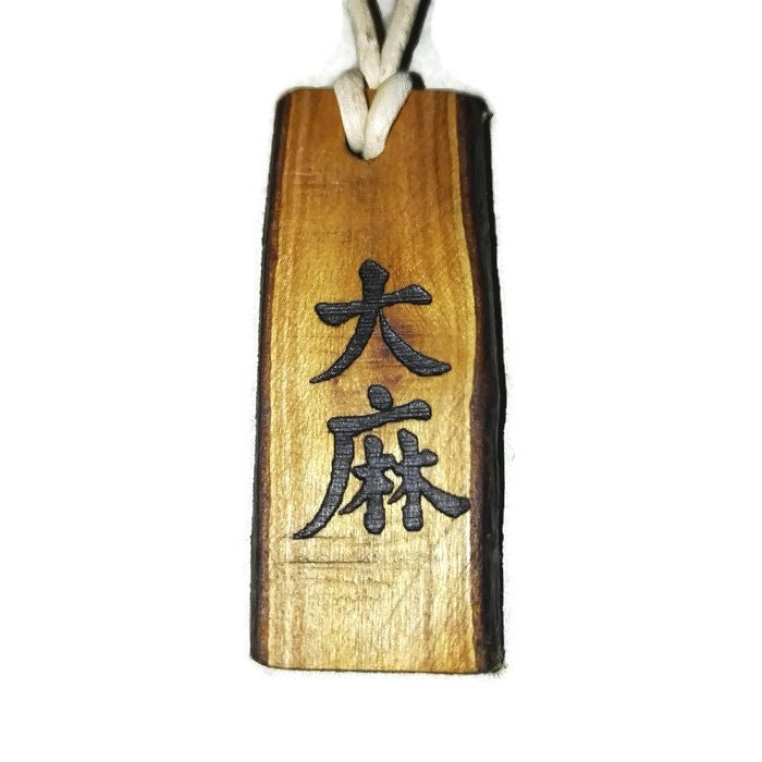 Bespoke Dama Necklace Ancient Chinese Symbol For Cannabis Hemp