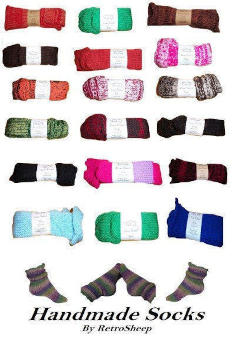Retrosheep RAINBOW BLACK Funky Handmade Wool Unisex bed  sofa Retro Socks For Women Men #Socks