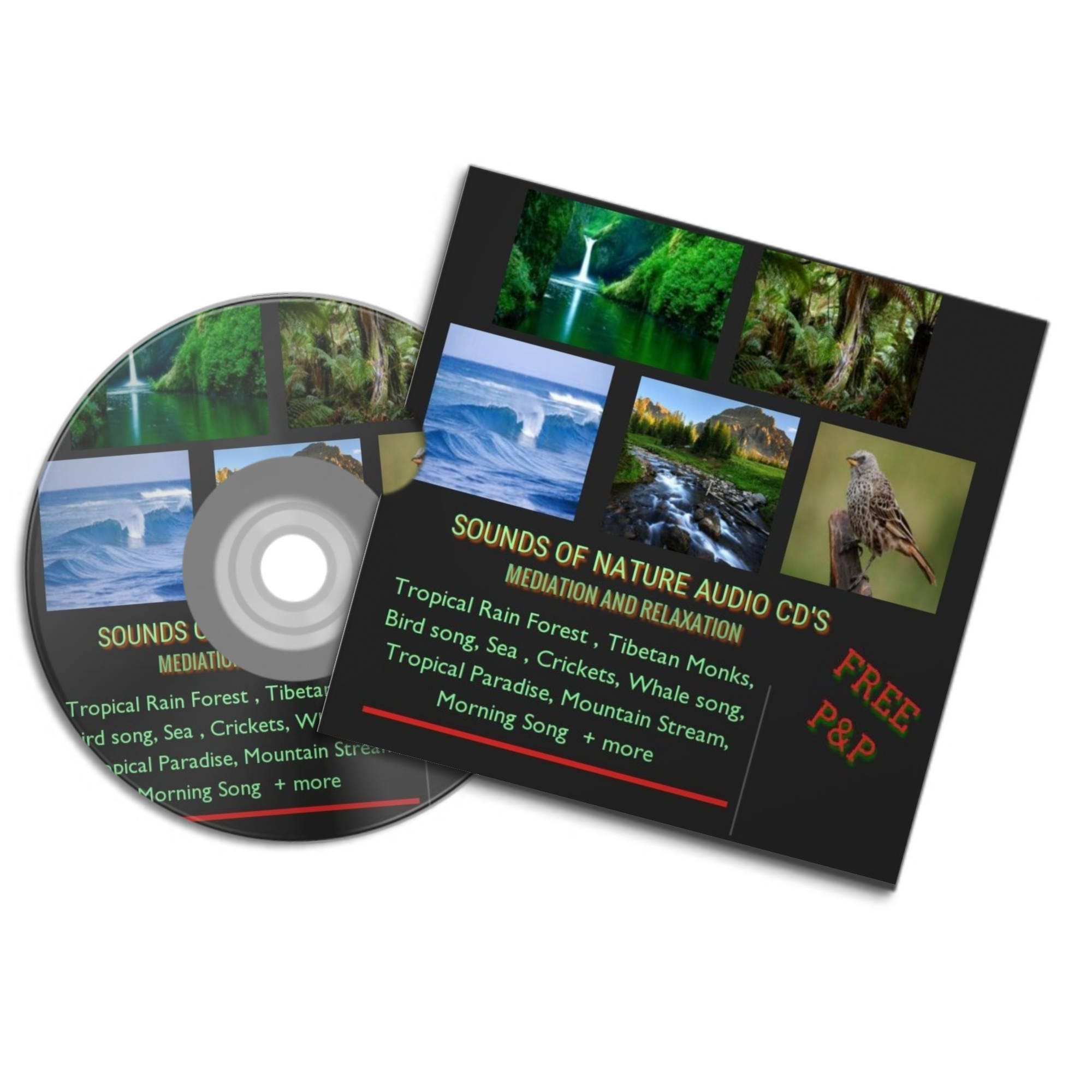 NATURE SOUNDS Meditation Relaxation Audio Cd's ocean waves