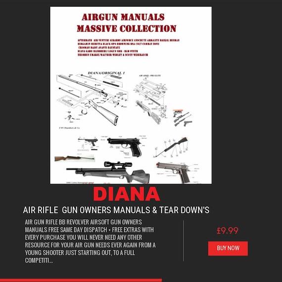 air rifle gun owner s manual s rifle crossman bsa smk etsy rh etsy com Operators Manual Corvette Owners Manual