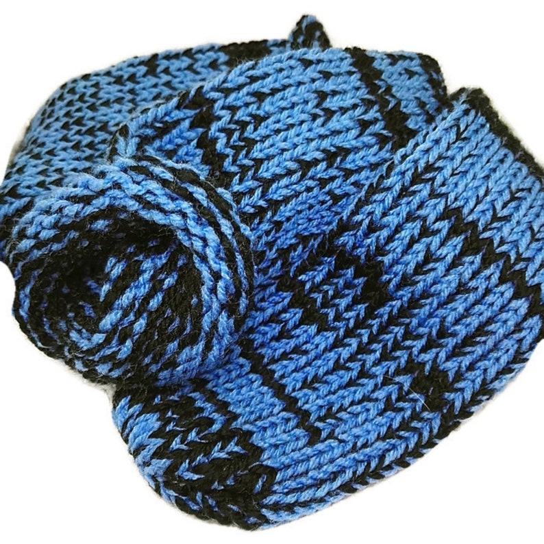Retrosheep Black Royal Blue Mix Handmade Wool Unisex bed  sofa Knitted Socks Casual Novelty Custom Personalised #Socks