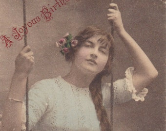 Collectable Vintage Postcard - A Joyous Birthday - G.1007