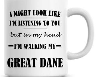 Titus the Great Dane Dog Coffee Mug 11oz Dog Lover Gift for Him Her