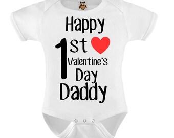 Mein 1 Valentinstag Baby Bodysuit T Shirt Baby Kind Kleinkind Etsy