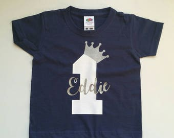 Personalised Number Kids Birthday T Shirt Or Baby Bodysuit 1st 2nd 3rd