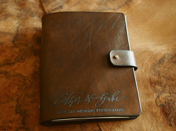 personalized leather journal a6 travel diary your logo