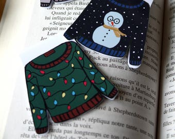 Christmas sweater / / 1 magnetic bookmark