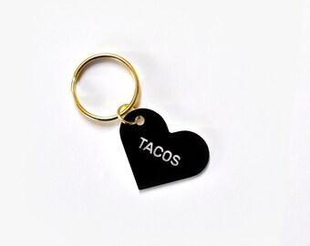 Tacos Heart Keytag