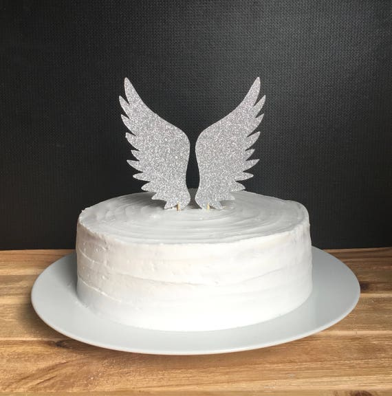 Angel Wings Cake Topper Angel Baby Shower First Birthday Cake Etsy