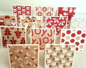 82b097f53edcc Red Christmas notecards   mini christmas thank you cards   mini christmas  thank you notes   mini christmas thank you notecards set of 12