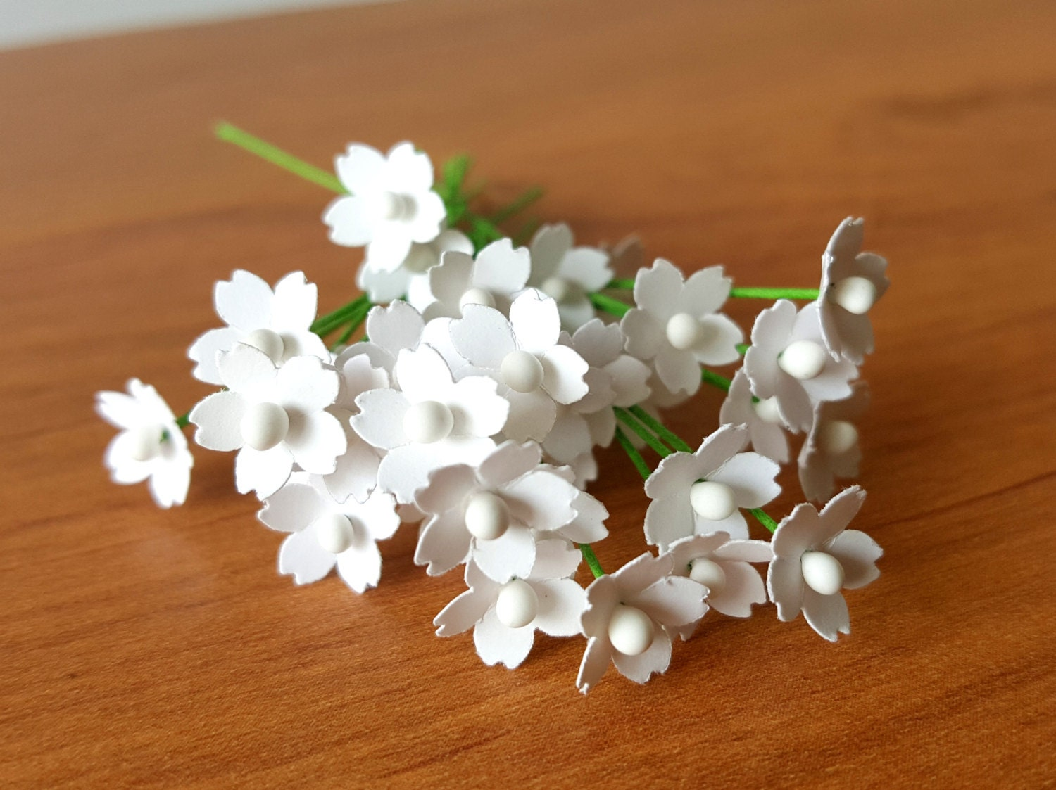 100 Miniature White Paper Flowers 5mm White Flowers Etsy