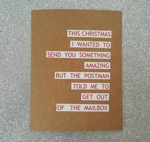 Lustige Karte / funny Urlaub Karte humorvolle Weihnachtskarte | Etsy